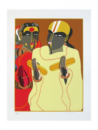 Thota Vaikuntam's Limited Edition Untitled Serigraph on Paper- 30in x 22in