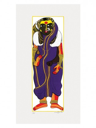 Thota Vaikuntam's Limited Edition Untitled Serigraph on Paper- 30in x 14in