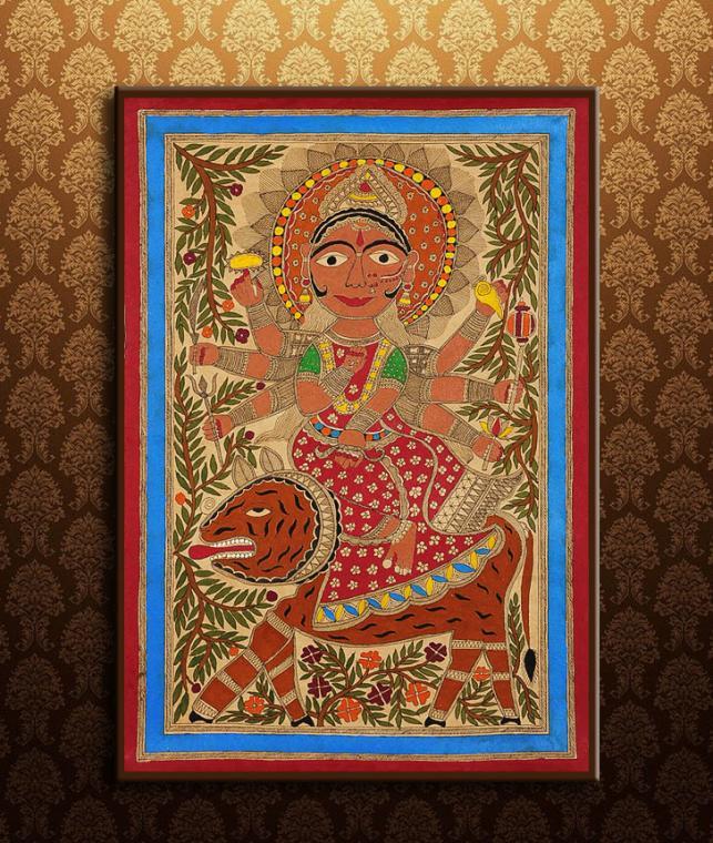 Buy Mythical Mithila By Shanti Devi Framed Madhubani Wall