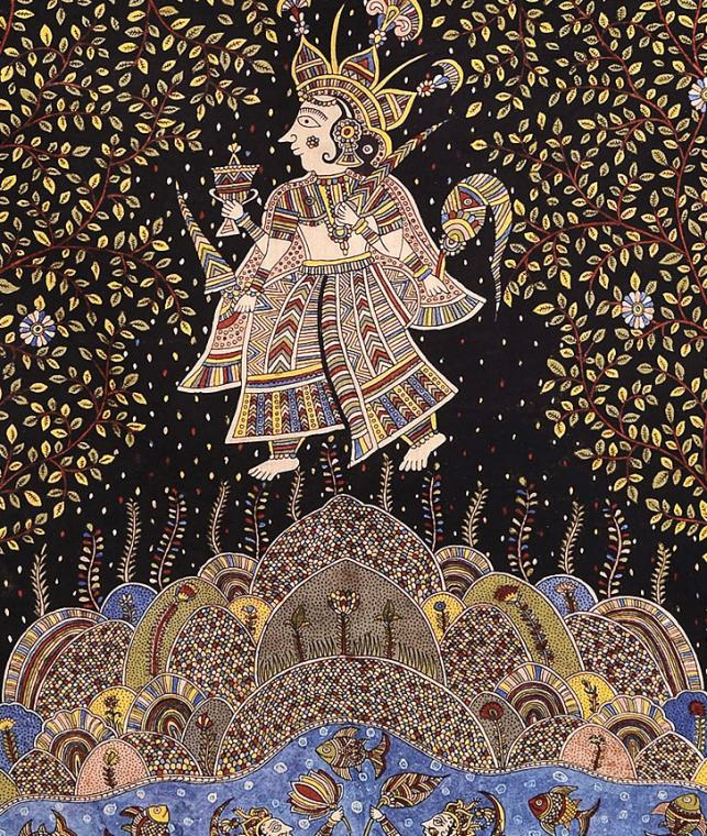 Buy Mata Ni Pachedi Hand Painted Kalamkari Wall Art Online
