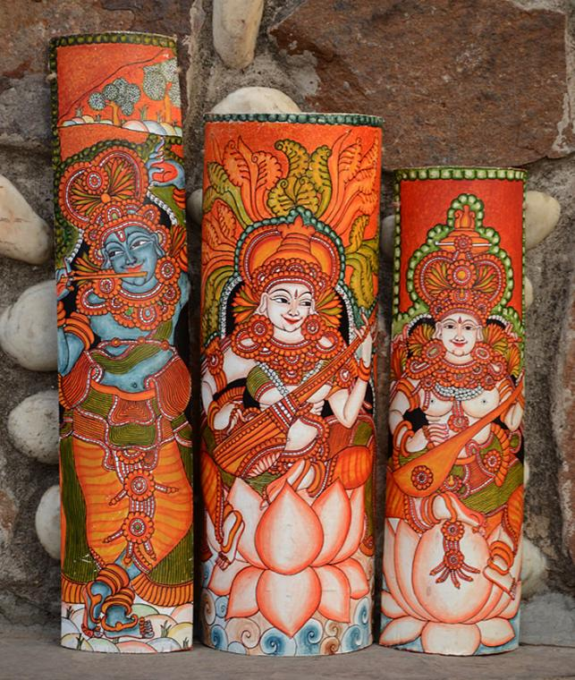 Buy Off A Fine Brush By The Lotus House Kerala Mural